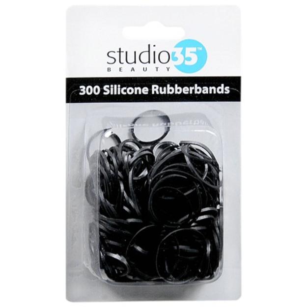 Studio 35 Silicon Rubberbands Black