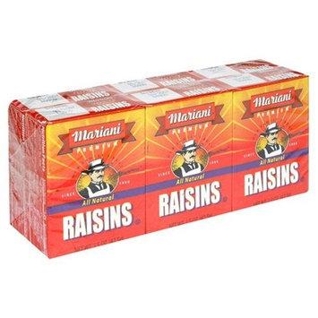 Mariani Raisin Cartons,1.5oz 6-Count (Pack of 24)