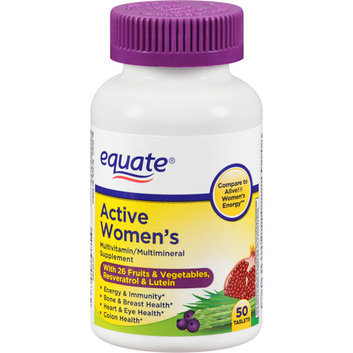 Equate Active Women's Multivitamin/Multimineral Supplement Tablets