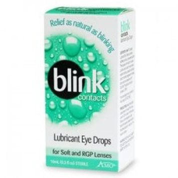 AMO Blink Contact Lubricant Eye Drops for Soft and RGP Lenses, 0.34 Ounce Box