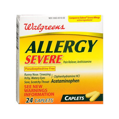 Walgreens Allergy Severe Pain Reliever Caplets