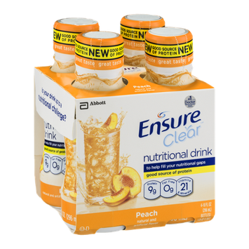 Ensure Clear Nutritional Drink Peach - 4 CT