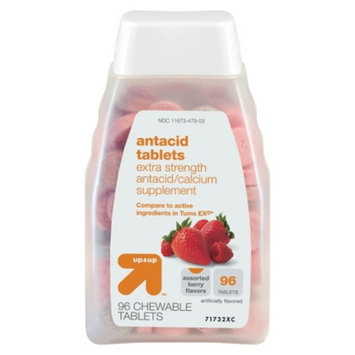 up & up Extra Strength Antacid Tablets Berry Flavor, 96 ct.