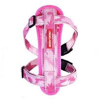 EzyDog Chest Plate Custom Fit Dog Harness, Large, Pink Camo