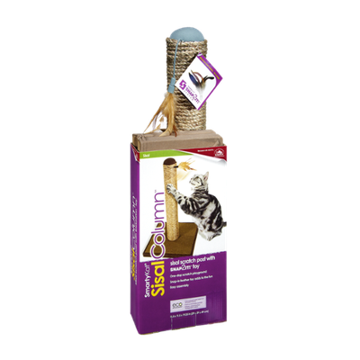 SmartyKat Sisal Column Scratch Post with Toy