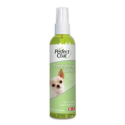 8In1 Pet Products Perfect Coat Freshening Spray, Key Lime Scent, 4-Ounce (P-82717)