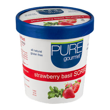 Pure Gourmet Sorbet Strawberry Basil