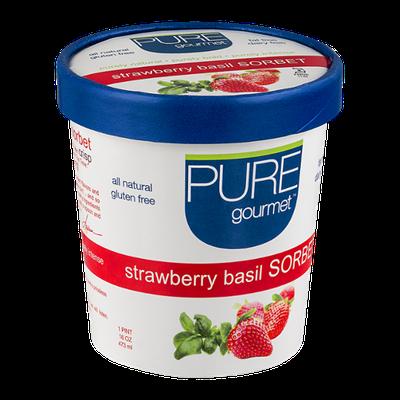 Pure Gourmet Sorbet Strawberry Basil