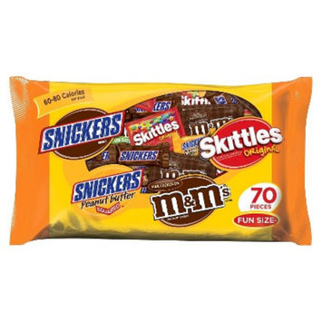 Masterfoods Snickers, Snickers Peanut Butter 2, M&M's & Skittles Fun Size Variety