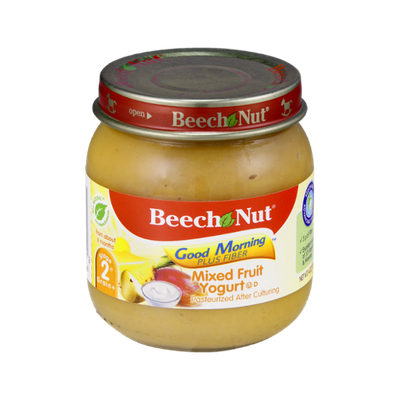 Beech Nut Good Morning Plus Fiber Stage 2 Mixed Fruit Yogurt