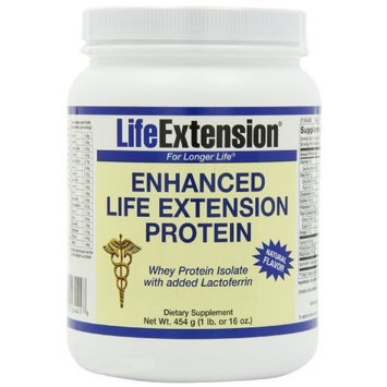 Life Extension Enhanced Whey Protein, Natural, 1 pound