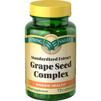 Spring Valley Dietary Supplement Grape Seed Complex With Resveratrol 72 ct