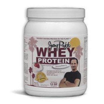 Jay Robb Whey Protein Powder Strawberry -- 12 oz