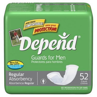 Depend Guards For Men, 52-Count Packages (Pack of 4)