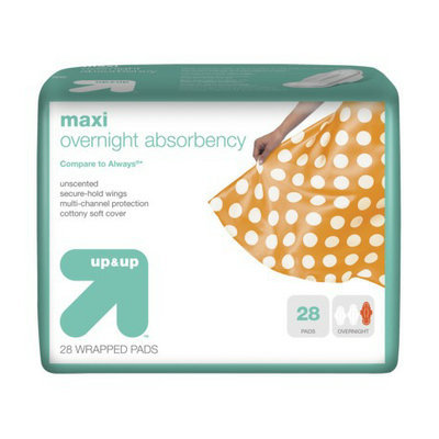 Up & Up Overnight Maxi Pads with Wings 28-pk.