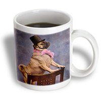 Recaro North 3dRose - Scenes from the Past Vintage Stereoview - Pug in Top Hat - 15 oz mug