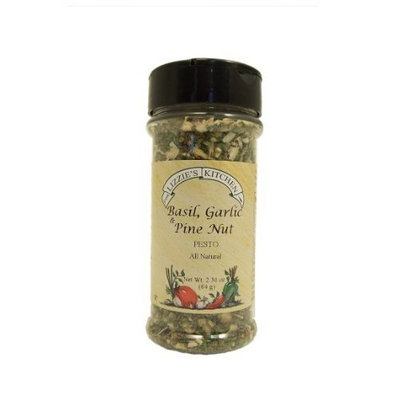 Lizzie's Kitchen Basil, Garlic & Pine Nut Pesto Seasoning, 2.3-Ounce Plastic Jars (Pack of 4)