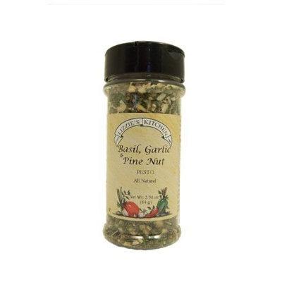 Lizzie's Kitchen Basil, Garlic & Pine Nut Pesto Seasoning, 2.3-Ounce Plastic Jars (Pack of 4)