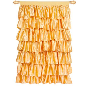 Generic Tadpoles Gold Ruffled Satin Curtain Panel