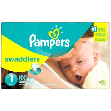 Babies R Us Pampers Diapers Swaddlers Size 1 Super 100 count
