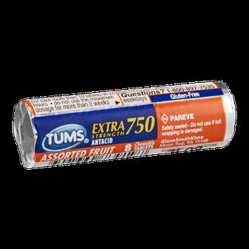 Tums Antacid Extra Strength 750 Assorted Fruit - 8 CT