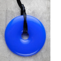 Smart Mom Jewelry Teething Bling Pendant - Donut Shape (Tanzanite)
