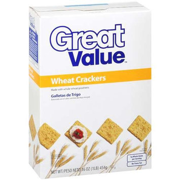 Great Value Wheat Crackers, 16 Oz