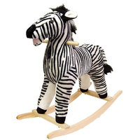 Happy Trails Zebra Plush Rocking Animal, 1 ea