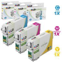 LD Remanufactured Replacement for Epson T079 Set of 3 High Yield Ink Cartridges: 1 T079220 Cyan, 1 T079320 Magenta, and 1 T079420 Yellow for the Artisan 1430, Stylus Photo 1400 Printers