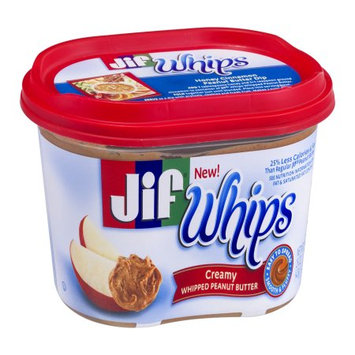 Jif Whips Creamy Whipped Peanut Butter, 15 OZ (Pack of 6)