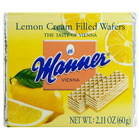 Manner Lemon Cream Filled Wafers