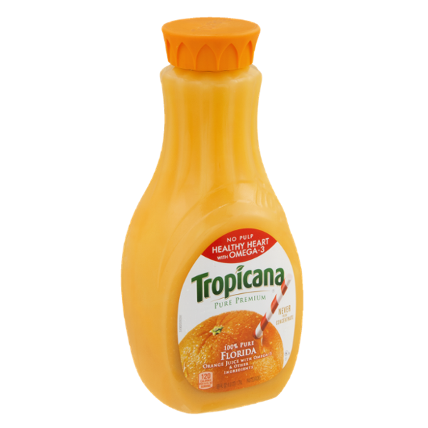 Tropicana® Pure Premium 100% Pure Florida Orange Juice No Pulp Healthy Heart With Omega-3