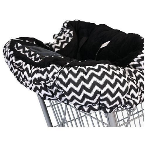 Floppy Products Floppy Seat Ultra Plush Shopping Cart & High Chair Cover - Midnight Chevron