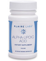 Klaire Labs, Alpha-Lipoic Acid 60 Vegetarian Capsules