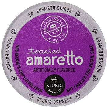 New Brand The Coffee Bean & Tea Leaf Toasted Amaretto K-cup Portion Pack for Keurig Brewers (48 or 96 count)