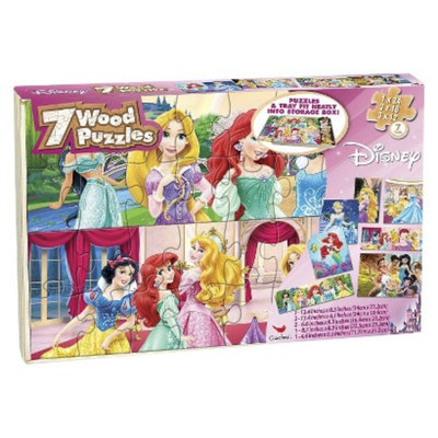 Cardinal industries Disney Girls Puzzles in Wood Box - 7 pk