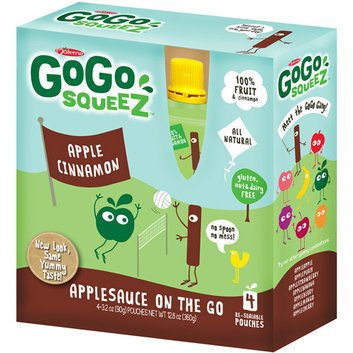 Gogo Squeez Apple Cinnamon On The Go Applesauce