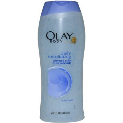 Olay Body Daily Exfoliating Body Wash with Sea Salts and Microbeads Women Body Wash, 23.6 Ounce