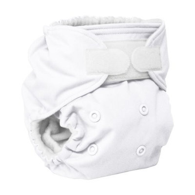Rumparooz Reusable Cloth Pocket Diaper, White, Aplix