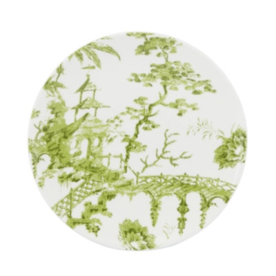 Scalamandre by Lenox, Toile Tale Chartreuse Salad Plate