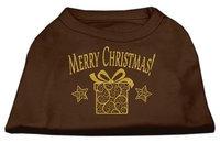 Ahi Golden Christmas Present Dog Shirt Brown Med (12)
