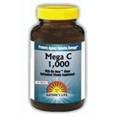 Nature's Life C Tablets, Mega, 1000 Mg, 100 Count