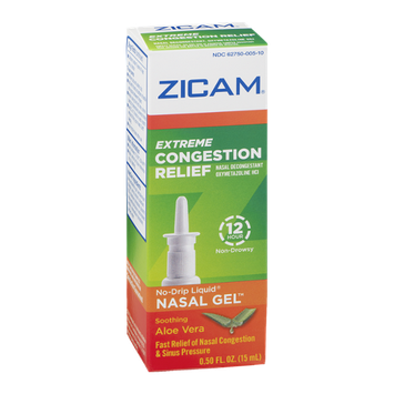 Zicam Extreme Congestion Relief No-Drip Liquid Nasal Gel Soothing Aloe Vera