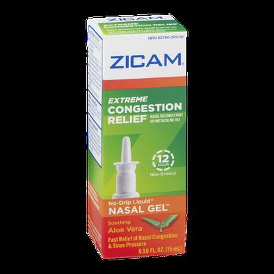 Zicam Extreme Congestion Relief No-Drip Liquid Nasal Gel Soothing Aloe Vera