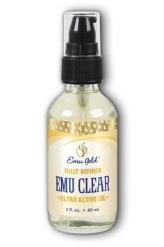 Emu Clear Oil, Ultra Active Fully Refined (Fragrance Free) Emu Gold 2 oz Liquid