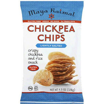 Maya Kaimal Lightly Salted Chickpea Chips, 4.5 oz, (Pack of 12)