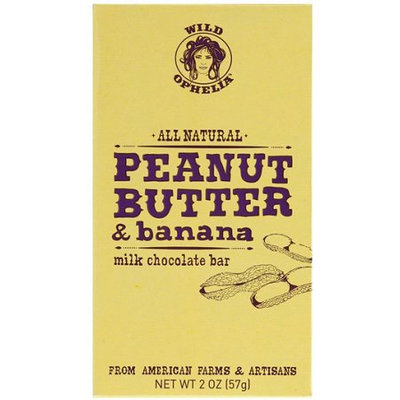 Wild Ophelia All Natural Bar Peanut Butter And Banana Milk Chocolate 2.0 Ounce (Pack of 12)