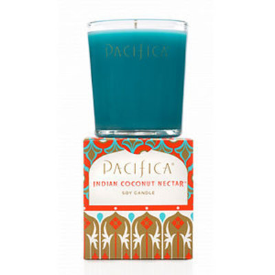 Pacifica Indian Coconut Nectar Soy Candle Box, 5.5 oz