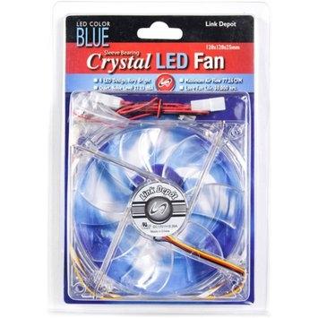 Link Depot 120mm LED Computer Case Fan, Blue