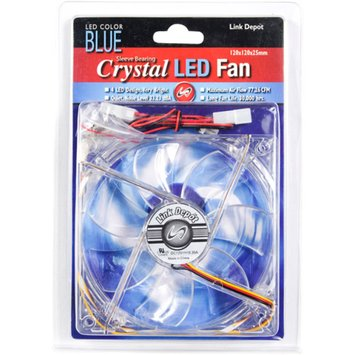 Link Depot 120mm LED Computer Case Fan, Blue